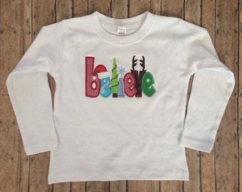 Believe Christmas Applique Shirt