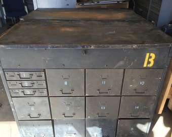 Vintage Industrial Military Tool Chest