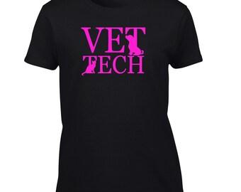 Vet Tech T-Shirt. Custom Shirts. Mens Womens Youth Kids Big And & Tall