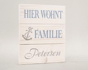 Door sign, door sign surname, family anchor