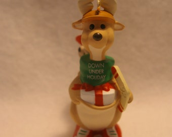 1992 Hallmark Keepsake Christmas Ornament Down Under Holiday Kangaroo New