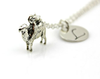 CAMEL INITIAL NECKLACE in Sterling Silver