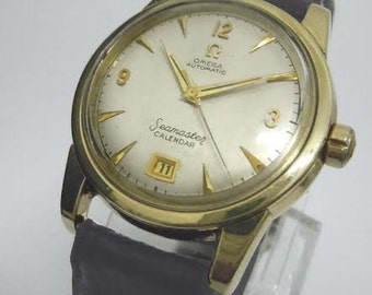 Mens Omega Seamaster Automatic Calendar Silver Dauphine Dress Watch