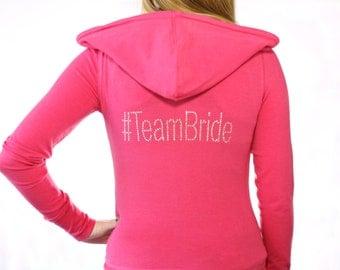 Team Bride Hoodie. #TeamBride. Bridal Party Hoodie. Hashtag Bride Hoodie. Wedding. Bridesmaid Hoodie. Bridal Party Gift.