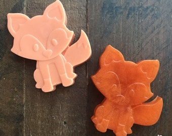 120 Fox Soaps {60 Soap Favors} Woodland Baby Shower, Baby Shower Favors, Soap Favors