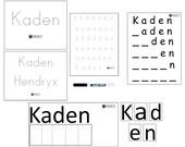 Custom Name Mat, Kids Writing Activity, Children's School Games, Montessori Language Materials