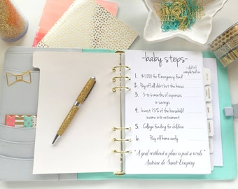 A5 Budget Inserts Baby Steps