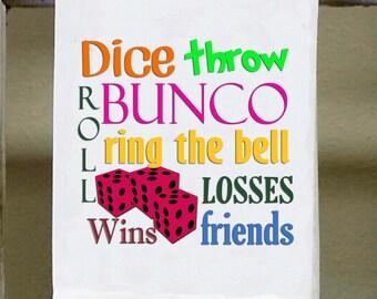 Bunco Kitchen Towel, Dish Towel, Bunco Game Night