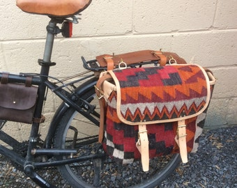 Carpet Bag. Carpet Satchel. Carpet Bike Pannier. Carpet Saddle Bag