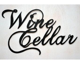 Wine Cellar - Metal Bar Sign
