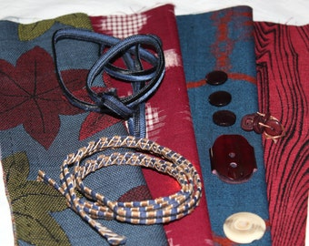 Gift pack of Vintage Japanese Fabrics, Buttons & Braid