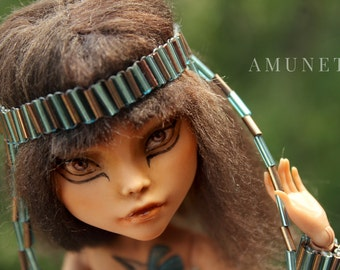 BIG SALE -25% Amunet - OOAK Monster High Repainted Art Doll