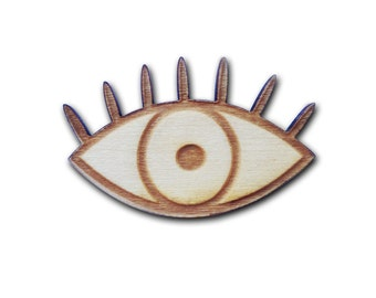 Eye Wooden Pin