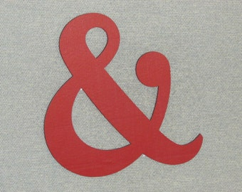 """12"""" Wood AMPERSAND Wedding And Sign Symbol Wall Large Letter Ampersand Barn Red"""