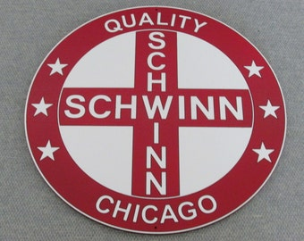 "Schwinn Bicycle Sign 12"" Wall Art Decor"