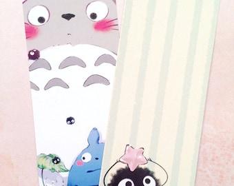 My Neighbor Totoro Sootball Fanart Bookmark- 2 Sided Design