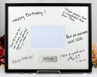 Personalised Signature Photo Frame with Stand