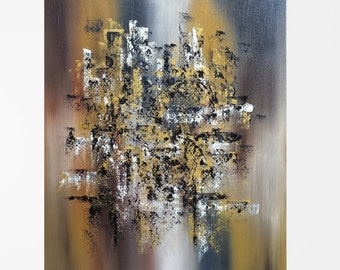 Brown oil painting Brown art Oil on canvas Gold painting Brown abstract art Modern contemporary art Abstract oil painting Abstract 20x24