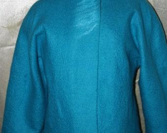 Felted coat,felted jacket,felted trench, spring coat, summer coat, OOAK