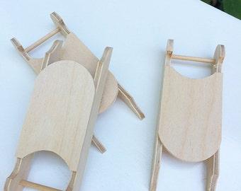 Mini Wooden Sled