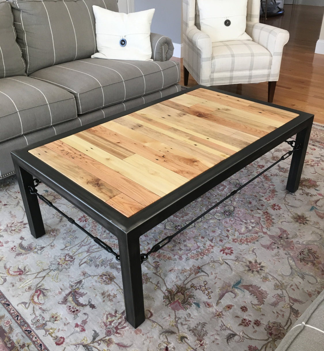 Hand Made Coffee Table Industrial Table Industrial Coffee