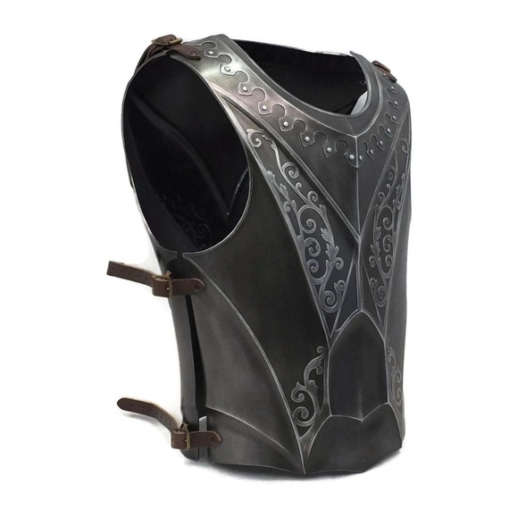 Larp Armor, Fantasy armor, Cosplay Armour, Medieval, Knight, Paladin Breastplate and Backplate