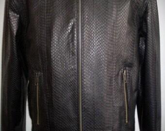 Snake eater - men's jacket of real snakeskin (Free shipping)