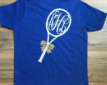 Girls Short Sleeve Monogrammed Tennis Shirt ©