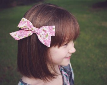 Floral Oversized Bow