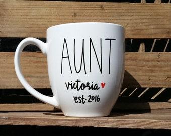Aunt Mug // Auntie Mug // Coffee Mug // Tea Mug // Aunt Gift // Future Aunt Gift // Auntie Gift // Future Auntie Gift