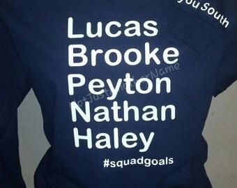 squadgoals Shirt, #squadgoals Shirt, Hashtag Shirt, Short Sleeve and Long Sleeve T-Shirt, Squad Goals T-Shirt, OTH T-Shirt