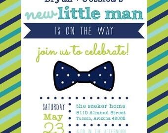 Little Man Baby Shower Invitation DIGITAL FILE