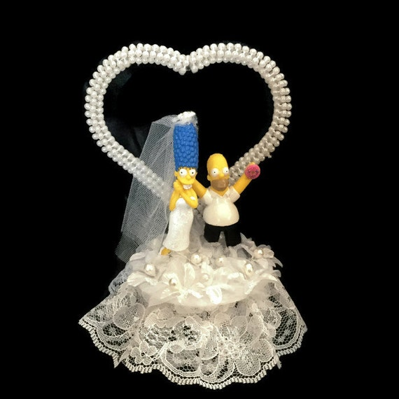 Wedding Cake Topper-Homer And Marge By UniqueWeddinCreation