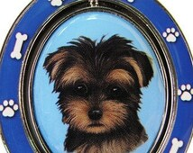 Yorkiepoo Double Sided Yorkiepoo Spinning Key Chain With Yorkiepoo Face Made Of Heavy Quality Metal Perfect for Pet Lovers