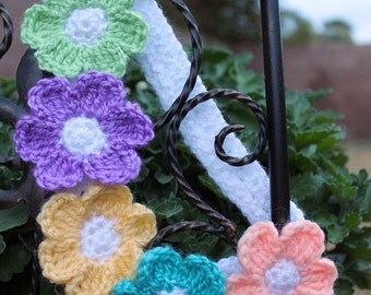 Crochet Five Flower Headband