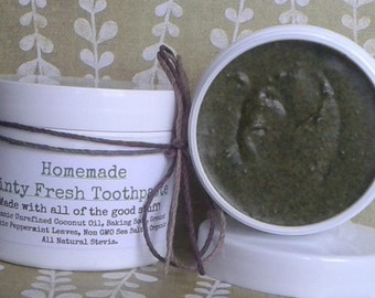 Homemade Minty Fresh Toothpaste