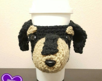 Crochet Dachshund Travel Mug Cozy