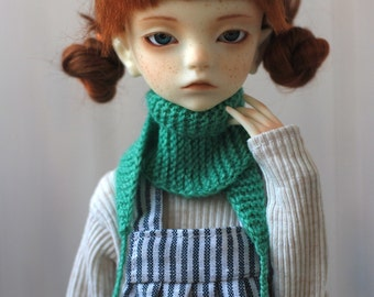 MSD Green Knitted Scarf/ Baktus - BJD Accessory