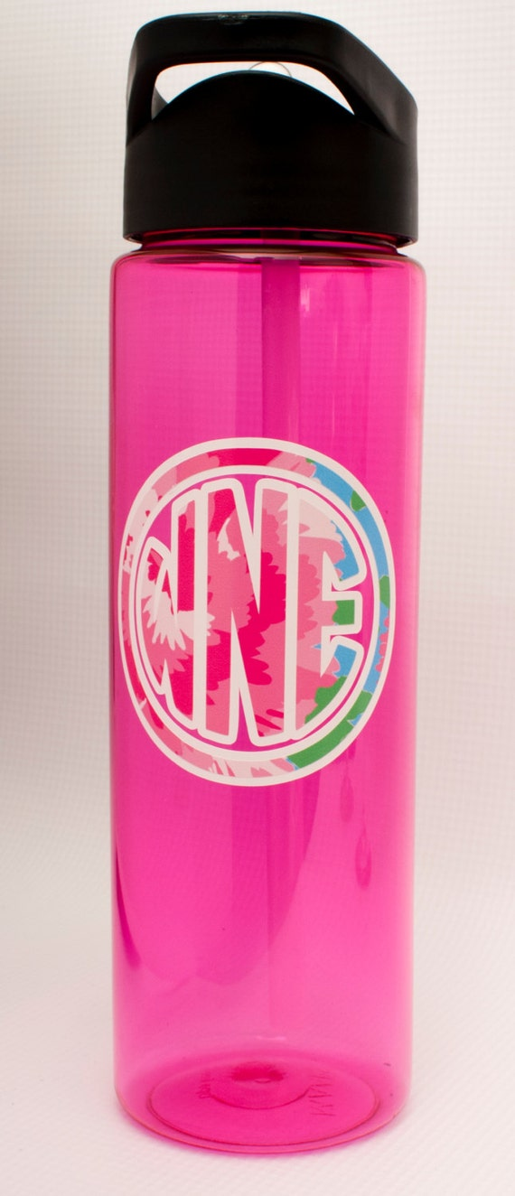 Large Personalized 24 Oz Water Bottle Lilly Pulitzer