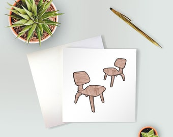 Eames Chair Greeting Card