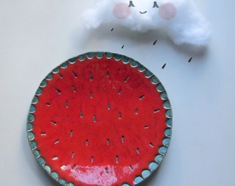 Watermelon Plate, funny birthday gifts.