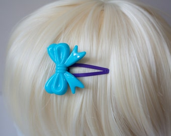 Blue and Purple Lolita Bow Hair Clips