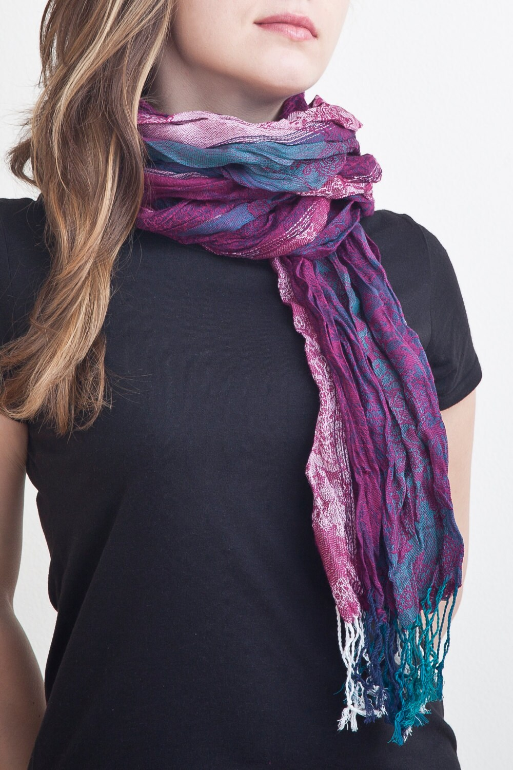 crimson scarf chunky scarf womens scarves gifts