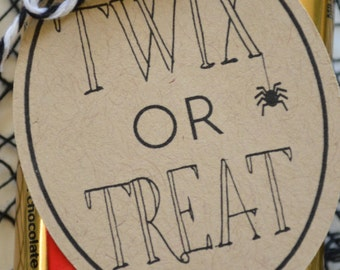 Twix or Treat Halloween Tags - Classroom or Coworker Halloween Gift - Treat Bag Tags