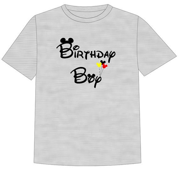 Disney Shirt BIRTHDAY BOY Disney Vacation Disney Group Shirts