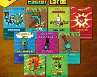 Mineventure Easter Cards - 9x Instant Download Designs - Printable DIY