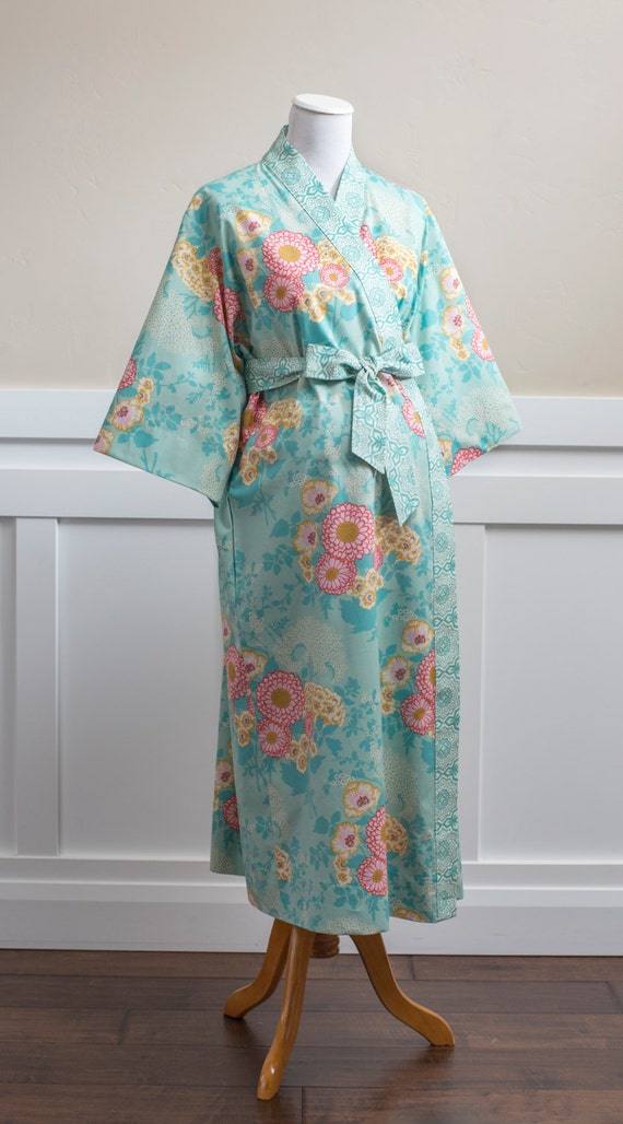 Maternity Robe Mid calf Gown Long Kimono Robe All sizes Plus sizes ...