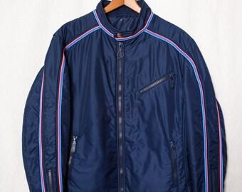 "Men's Retro Winter Jacket, Large Men's 80's ""Head"" Ski Coat, Pink, Blue and Purple Striped Men's Ski Parka, 80's Star Trek Ski Jacket"