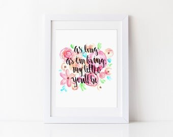 My Little You'll Be Big/Little Print Gift