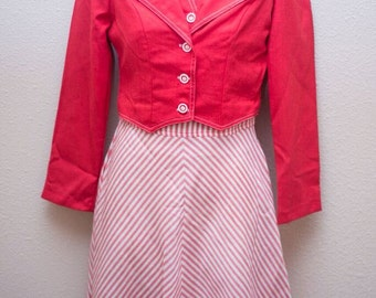 Vintage Strawberries 'n' Cream Jacket and Dress Set - XX-Small